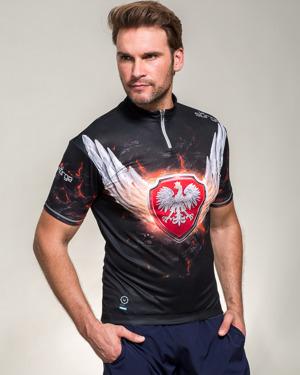 koszulki rowerowe z orłem i skrzydłami